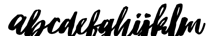 Hubster Font LOWERCASE