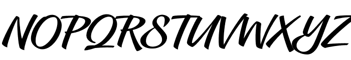Hughs Font UPPERCASE