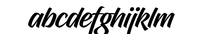 Hughs Font LOWERCASE