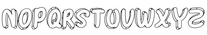 Hulahop Font UPPERCASE