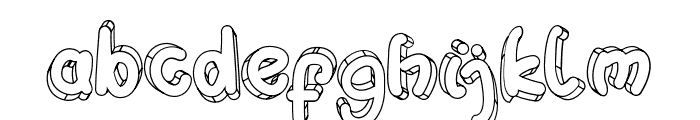 Hulahop Font LOWERCASE
