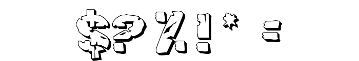 Hulkbusters 3D Font OTHER CHARS