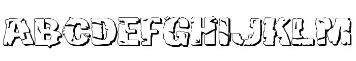 Hulkbusters 3D Font LOWERCASE