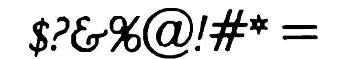 Hultog Italic Font OTHER CHARS