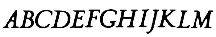 Hultog Italic Font UPPERCASE