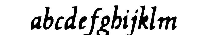 Hultog Italic Font LOWERCASE
