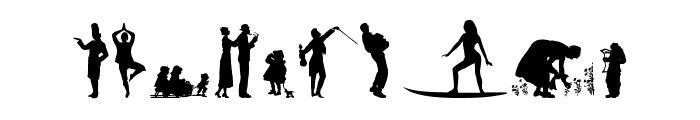 Human Silhouettes Free Nine Font OTHER CHARS