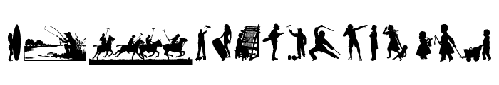 Human Silhouettes Free Nine Font UPPERCASE