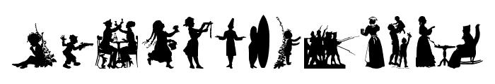 Human Silhouettes Free Nine Font LOWERCASE