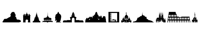Human building Font UPPERCASE