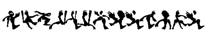 HumanDeformations Font UPPERCASE