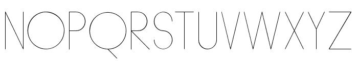 HumanP.J-Skinny Font UPPERCASE