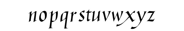 Humanistic Cursive Font LOWERCASE