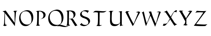 Humanistic Font UPPERCASE