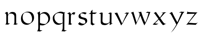 Humanistic Font LOWERCASE