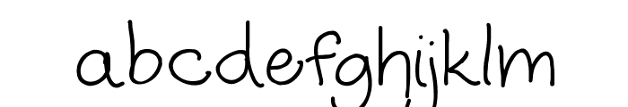 Humble Beginnings Font LOWERCASE