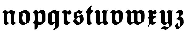 HumboldtFraktur Bold Font LOWERCASE