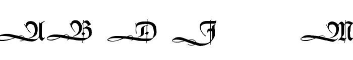 HumboldtFraktur Initialen Font LOWERCASE