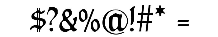 HumboldtFraktur Zier Font OTHER CHARS