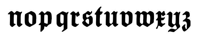 HumboldtFrakturUNZ1A Font LOWERCASE