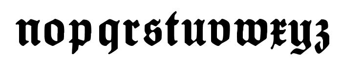 HumboldtFraktur Font LOWERCASE