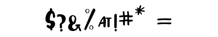 Humphrey Regular Font OTHER CHARS