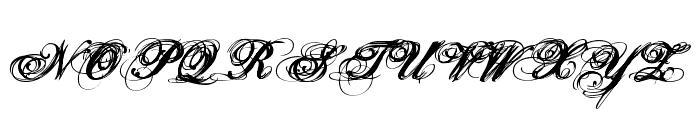 Hurricane  SupaDupaSerif Font UPPERCASE