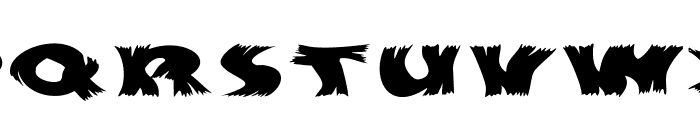Hurrikanish Font UPPERCASE