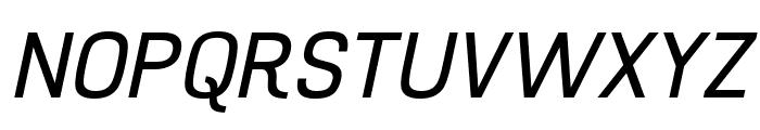 Hurufo & Numero Italic Italic Font UPPERCASE
