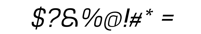 Hurufo & Numero Thin Italic Italic Font OTHER CHARS