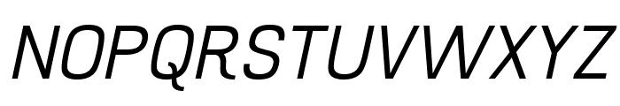 Hurufo & Numero Thin Italic Italic Font UPPERCASE