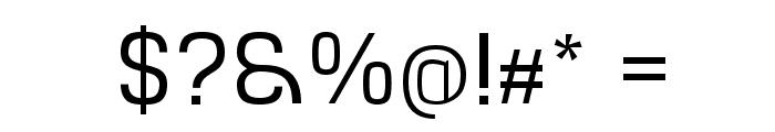 Hurufo & Numero Thin Font OTHER CHARS