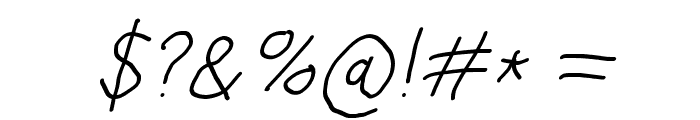Hussar Blyskawica Oblique Font OTHER CHARS