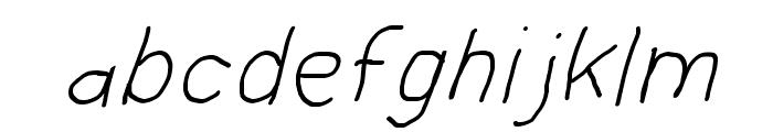 Hussar Blyskawica Oblique Font LOWERCASE