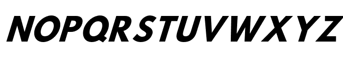 Hussar Bold Condensed Oblique Three Font UPPERCASE