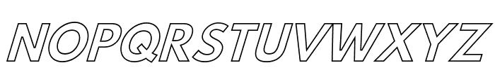 Hussar Bold Italic Outline Font UPPERCASE