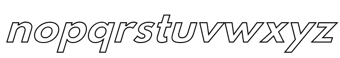 Hussar Bold Italic Outline Font LOWERCASE