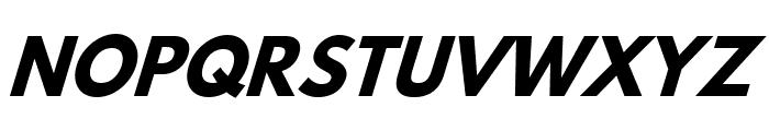 Hussar Bold Italic Font UPPERCASE
