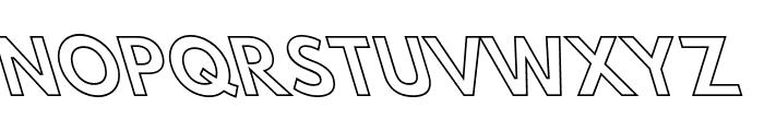 Hussar Bold Leftalic Outline Font UPPERCASE