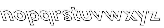 Hussar Bold Leftalic Outline Font LOWERCASE