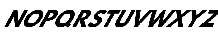 Hussar Bold Oblique Six Font UPPERCASE