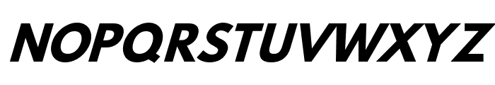Hussar Bold Oblique Three Font UPPERCASE