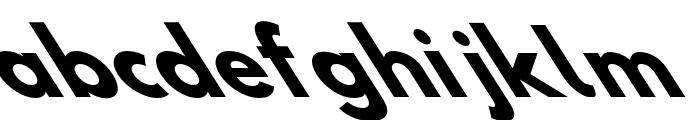 Hussar Bold Opposite Oblique Seven Font LOWERCASE