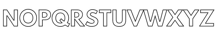 Hussar Bold Outline Font UPPERCASE