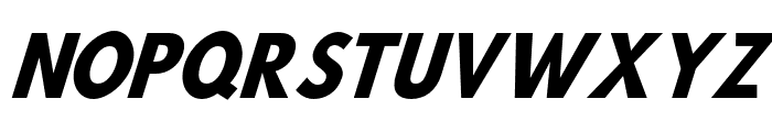 Hussar Bold SuperCondensed Oblique Three Font UPPERCASE