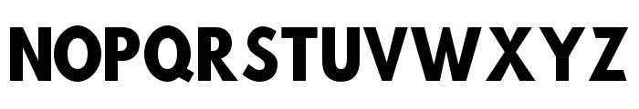 Hussar Bold SuperCondensed Font UPPERCASE