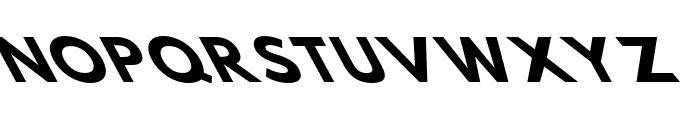 Hussar Bold SuperExtended Oblique Five Font UPPERCASE