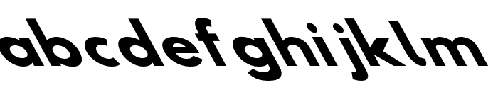 Hussar Bold SuperExtended Oblique Five Font LOWERCASE