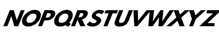 Hussar Bold Wide Oblique Four Font UPPERCASE