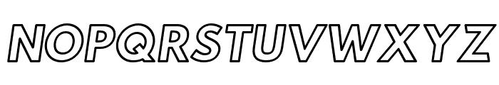Hussar Ekologiczne 1 Oblique Font UPPERCASE